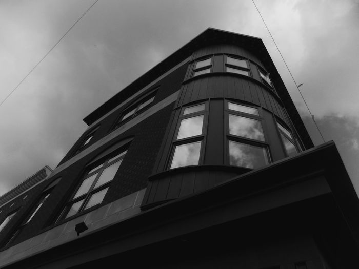 Architecture Low Angle View Building Exterior Close-up Day Modern Sky Clouds Blackandwhite Nikon Building City