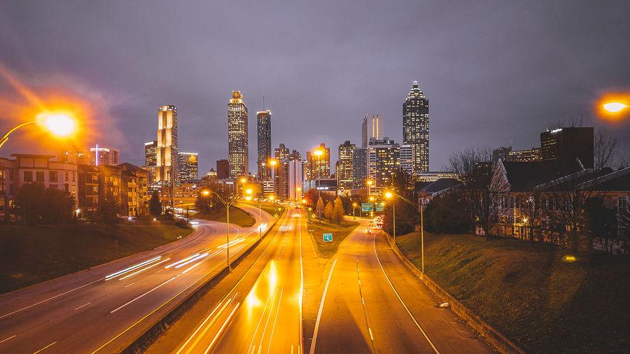 Atlanta skyline view from jackson street bridge