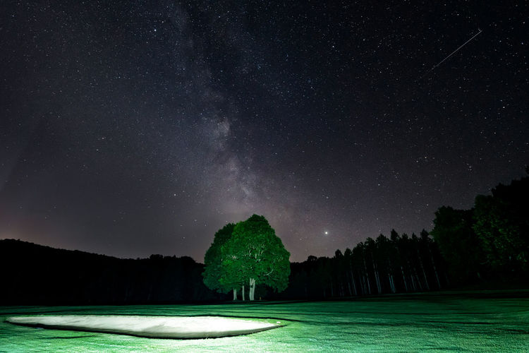 Milky way on the golf course