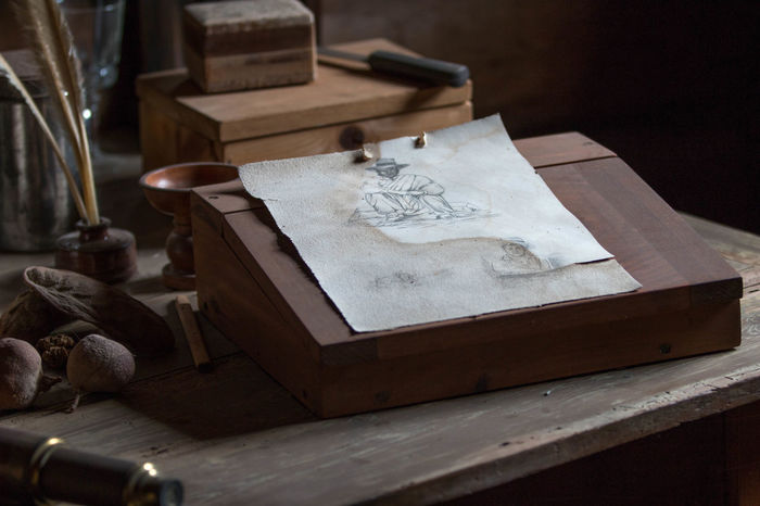 Close-up Day Drawing Dusty Focus On Foreground Fort Ross No People Old Selective Focus Still Life Wood - Material