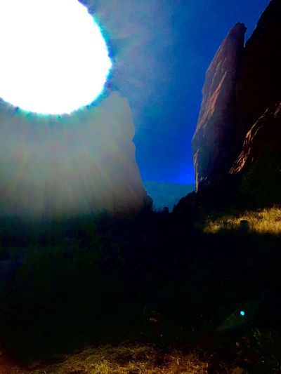 On the dark side Blinded By The Light Blinding Colorado Garden Of The Gods Sunlight Nature Sky Scenics Beauty In Nature Tranquility Outdoors No People