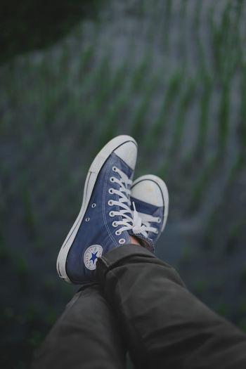 My frist photo 🌿 Converse Man Shoes Nature Low Section Standing Human Leg Canvas Shoe Shoe Men Sport Personal Perspective Sports Shoe Jeans First Eyeem Photo