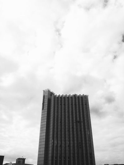 Monochrome Photography Building Exterior Architecture Tall - High Built Structure Tower Sky Modern Cloud - Sky Blackandwhite Geometric Shape Blackandwhite Photography Outdoors Monochrome_life Chemnitz Germany🇩🇪