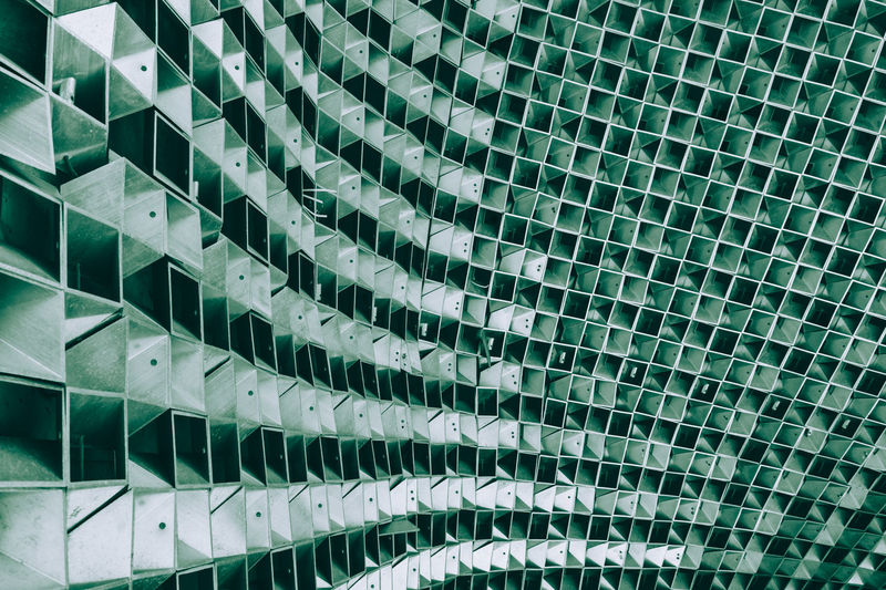 Abstract interior of the matrix Abstract Architecture Backgrounds Close-up Day Full Frame Green Color In A Row Indoors  Low Angle View Matrix Modern No People Pattern The Architect - 2017 EyeEm Awards