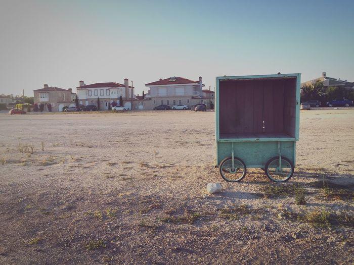 Small cart on beach