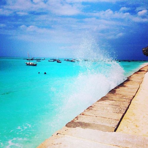 Zanzibar Zanzibarisland Water Indian Ocean Beach Blue Wave