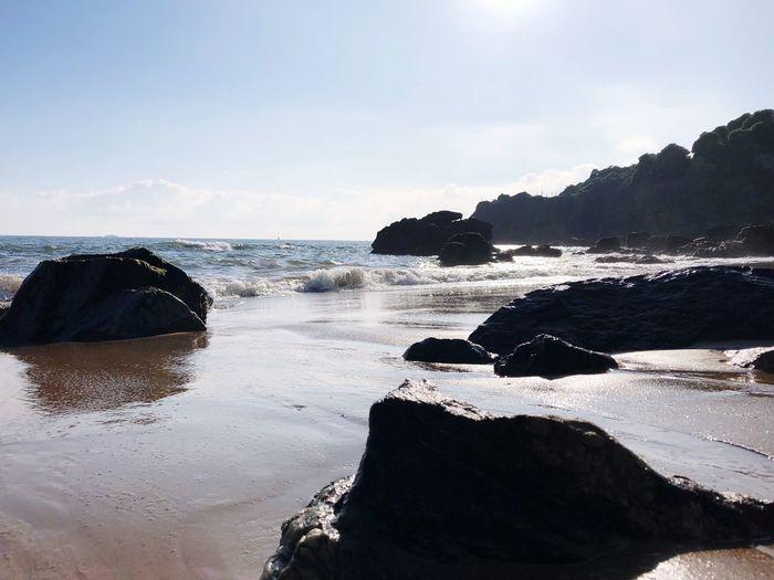 Rocks, sand and