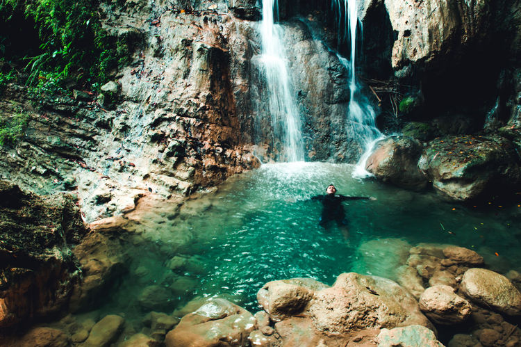Happiness Happy Holiday Nature Swimming Tranquility Traveling Vacations Adventure First Eyeem Photo Men Outdoors Scenics Swim Swimming Pool Tranquil Scene Travel Destinations Vacation Water Waterfall Waterfalls This Is Masculinity