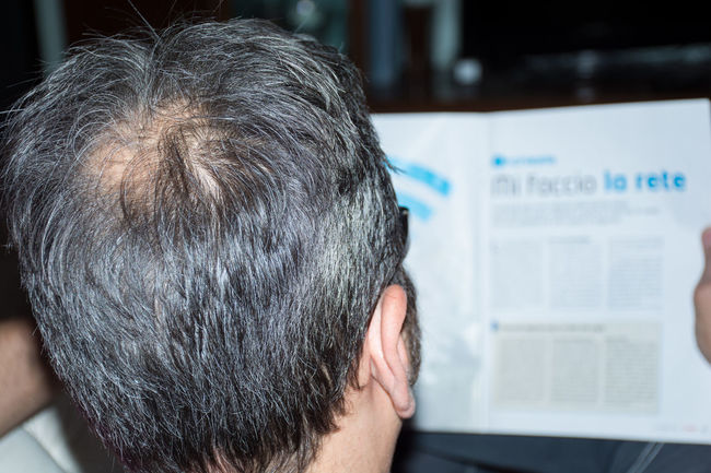 Adult Bald Bald Head Bald Man Baldeneysee Baldhead Baldi Balding Baldness Close-up Day Focus On Foreground Headshot Indoors  Mature Adult Mature Men Men One Man Only One Person People Real People Rear View Senior Adult Sitting
