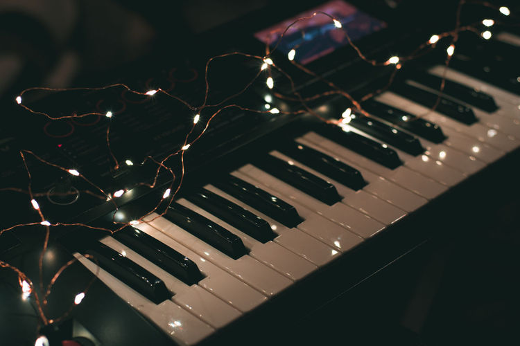 Musical Instrument Music Musical Equipment Piano Arts Culture And Entertainment Piano Key Close-up Indoors  No People Keyboard High Angle View Technology Selective Focus String Reflection White Color Backgrounds Detail Pattern Keyboard Instrument
