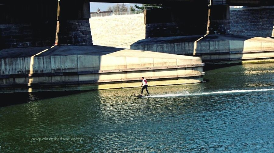 Water Sport In The City Summeriscoming Beach Day Fun Nijmegenopdekaart Nature Vs City Lifestyles Real People Outdoors Urbansport Hello World Architecture Built Structure Leisure Activity One Person Day Full Length Bridge - Man Made Structure Connection EyeEmNewHere