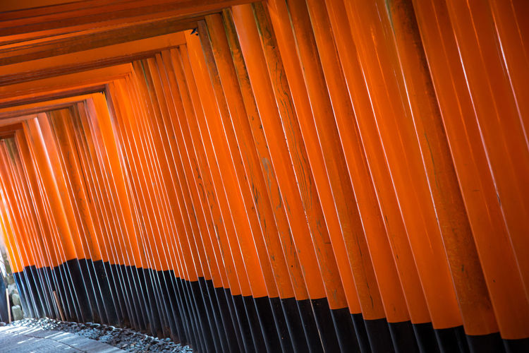 Interior Of Torii Gate Entrance