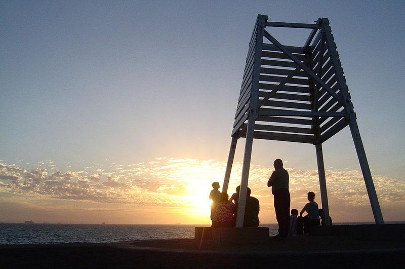 St. Kilda Beach Australia Familyouting Outdoors Silhouette Sunset Vacations Weekend Activities First Eyeem Photo