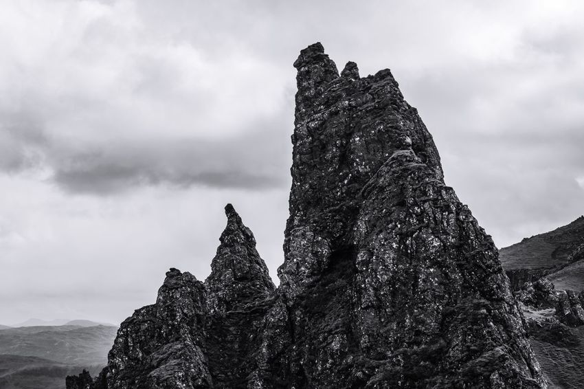 Rock formations for days in Skye Blackandwhite Geology Nature Mountain Textured  No People Scenics The Great Outdoors - 2017 EyeEm Awards Black And White Photography EyeEmNewHere VSCO Vscocam VisitScotland Scotland Scottish Highlands Sky Goexplore EyeEm Best Shots EyeEm Gallery Eyeemphotography EyeEm Best Shots - Nature