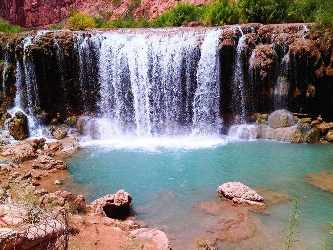 Navajo Falls Havasupai Arizona Water Falls Nature Eyeem Travel The Artsy Lens Mobile Photography Blackberryphoto Ladyphotographerofthemonth The Great Outdoors With Adobe The Great Outdoors - 2016 EyeEm Awards