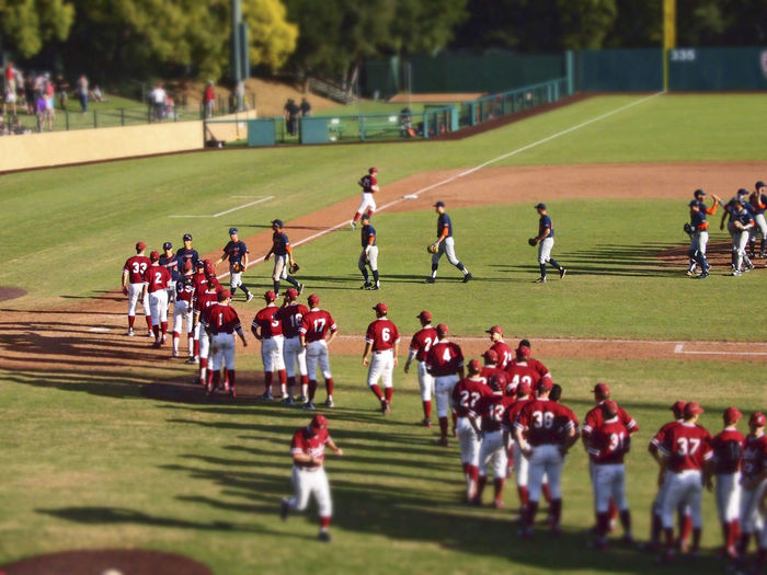 Baseball Field Congratulations Grass Klein Field Sport Sports Team Stanford University Stanford University Baseball Game Sunken Diamond TEAMS Uniform