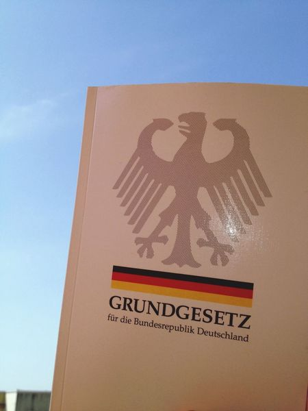 "1st article of the German constitution: ""The dignity of man is inviolable. To respect and protect it shall be the duty of all public authority."" It came into effect today in 1949. Democracy Constitution Germany Europe"