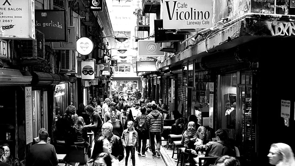 Large Group Of People People Melbourne Laneways Melbourne Melbourne City Melbournephotos Cafe Time Cafe Culture Cafés Cafe
