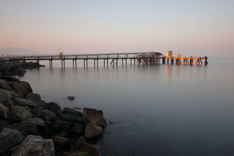 Long Exposure Shot of Quarry Pier Architecture Arklow Beauty In Nature Bridge - Man Made Structure Coast Coastline Connection Day Ireland Irish Sea Landscape Long Exposure Nature No People Outdoors Roadstone Scenics Sky Sunset Water Wicklow Wicklow Mountains