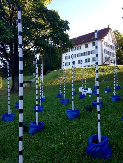 Intervenire the Art Exhibition in Muri Blue White and Nature