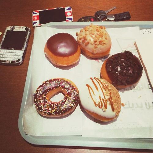 Breakfast with friends. ❤️❤️❤️ Donuts Sprinkles Donuts Save The World Chocolate Covered First Eyeem Photo