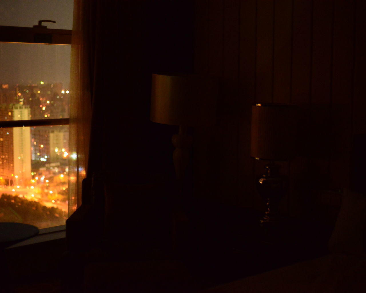 illuminated, night, indoors, no people, window, architecture, close-up