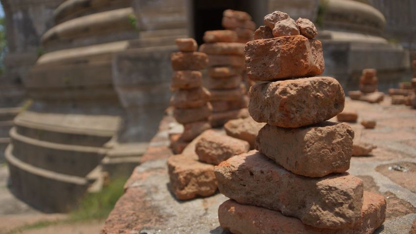 Architecture Balance Built Structure Close-up Day Focus On Foreground History Large Group Of Objects Metal Nature No People Old Outdoors Religion Rusty Solid Stack Still Life Stone Stone - Object