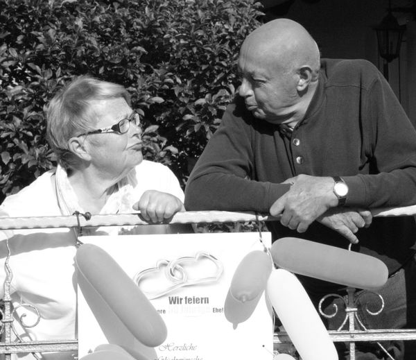 RePicture Love The Story Behind The Picture 50 years ago married Black & White Hello World