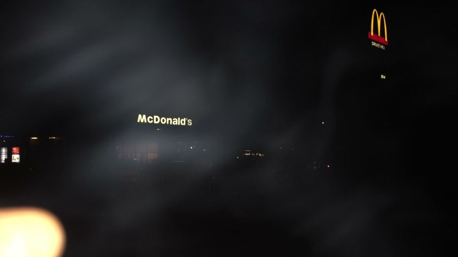 McDonald's Foodstagram Night Illuminated Low Angle View No People Sky Text Nature