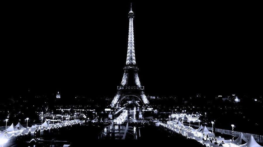 Architecture Blackandwhite Capital Cities  City Culture Night Outdoors Paris Sony A6000 Tour Eiffel Tourism Tower