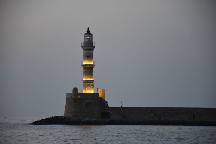 Holidays ☀ in Creta ❤ still in Chania whatch out ships there is a Lighthouse
