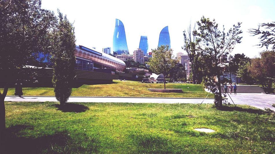 Modern Architecture Flametowers Baku Azerbaijan Baku2015 Sunnyday☀️