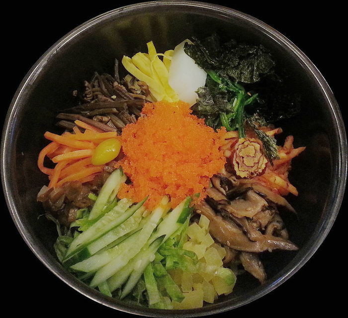 Bibimbab Food Freshness Food And Drink Bowl Healthy Eating High Angle View Indoors  Black Background Vegetable No People Ready-to-eat Close-up Korea Food Korea Photos Bibimbap😋 Food And Drink EyeEmNewHere
