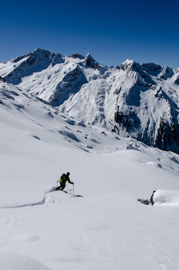 Ski Mountaineering Powder Snowcapped Mountain Mountain Range The Great Outdoors With Adobe Nature Adventure Club