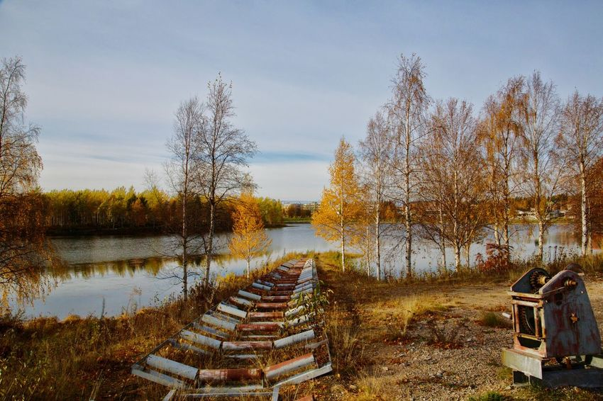 Water Nature Tranquility Tranquil Scene Beauty In Nature No People Reflection Boat Kemijärvi Finland Artic Circle Russia Lake Ocean Green Tree Trees