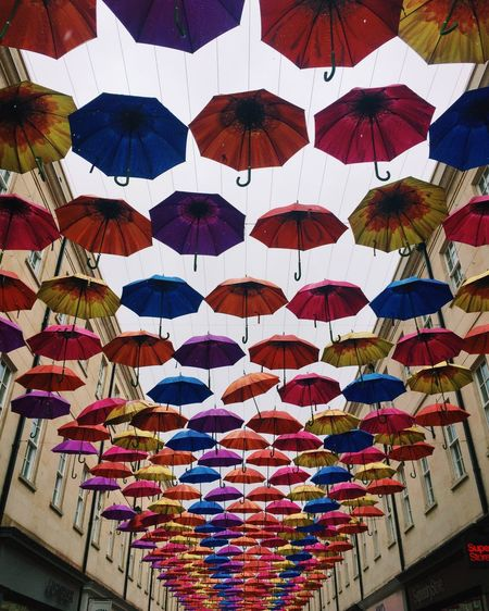 Abundance Arrangement Ceiling Choice Decoration Design Hanging In A Row Indoors  Large Group Of Objects Low Angle View Multi Colored No People Pattern Protection Security Side By Side Umbrella Umbrella Revolution Umbrellas Umbrella☂☂ Variation