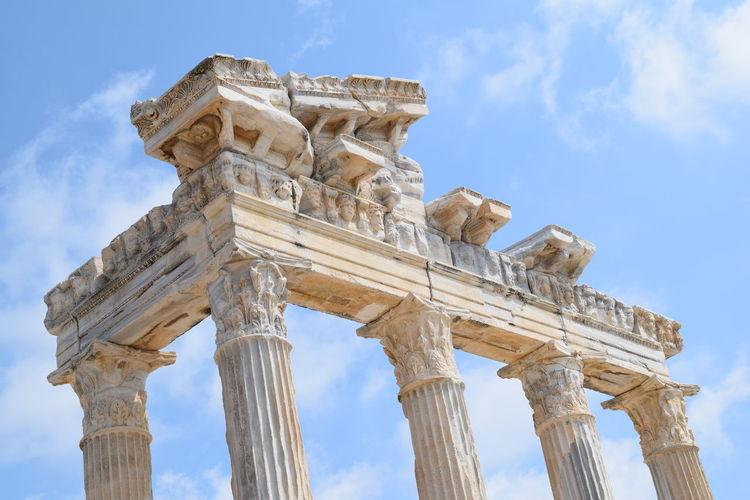 Temple Of Apollo Against Sky