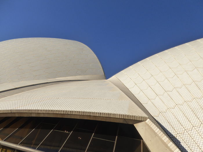 Architecture Building Exterior Built Structure Clear Sky Day Detail Sydney Opera House Low Angle View Modern No People Outdoors The Architect - 2017 EyeEm Awards Travel Destinations