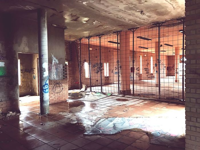 Mystical Place Leftbehind Destroyed Building Ruins_photography Environmentalist Destroyed Building Architecture Indoors  Built Structure Abandoned Building Damaged No People Old Run-down Reflection Weathered Bad Condition Dirty
