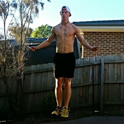 Finally got a speed rope and now my double unders are heaps better. Still gotta practice the timing though, the lacerations up my arms is indication of that. Crossfit Fitness Strength Strongman Unbroken Crossfitaustralia Skipping Doubleunder