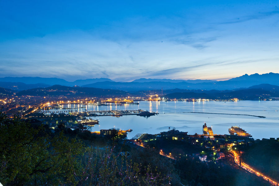 La Spezia, italy EyeEm Best Shots City Lights Learn & Shoot: After Dark Night Lights Cityscapes Light And Shadow Laspezia Liguria,Italy Ligurian Coast. Landscape_Collection Landscapes With WhiteWall Cities At Night Eyeem Awards 2016 Cities At Night A Bird's Eye View Flying High