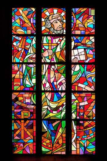 Close-up of colorful window