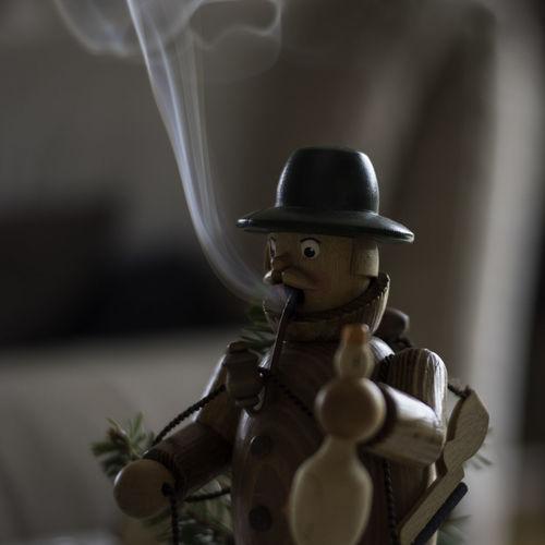 Close-Up Of Toy Emitting Smoke