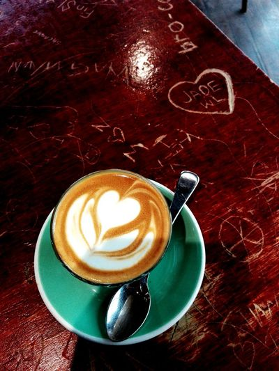 Weekend Coffee (3/4). Drink Refreshment Coffee Cup Coffee - Drink Table Food And Drink Still Life Frothy Drink Heart Shape High Angle View Indoors  Froth Art Cappuccino Latte Close-up Freshness No People Coffee ☕ Coffee Break Coffee Time