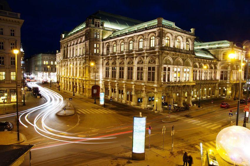 Operahouse Vienna Austria Night Night Lights Street Light State Opera Vienna Longexposure Architecture Neighborhood Map