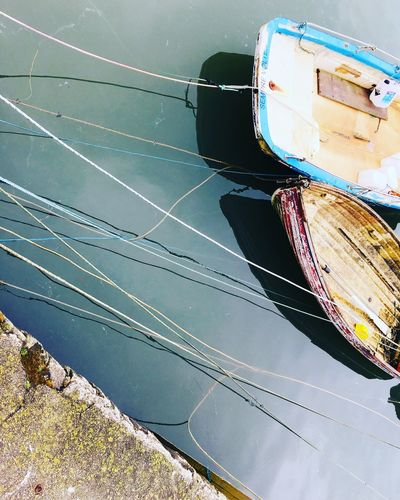 Tethered Reflections Watercollection Water Cornwall Boat Transportation Mode Of Transport Nautical Vessel No People Day Outdoors Water Moored