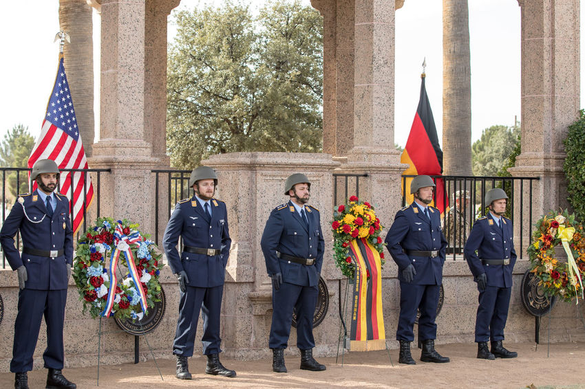 Volkstrauertag Annual German National Day of Mourning with the German Air Force at Ft Bliss. The Volkstrauertag is an important day both in political terms and for the public; a day for mourning the dead that also serves as a reminder of how precious life and peace are. Learning from the past to create a better and peaceful future. Volkstrauertag Army German Army Ft Bliss Military Cemetery El Paso Tx Graveyard Soldier Army Generals USMC German Air Force Memorial