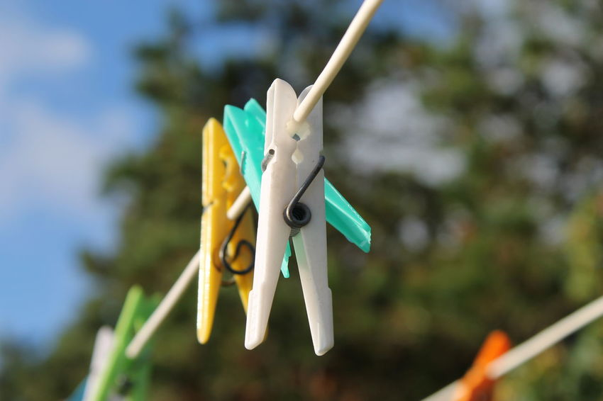 EyeEm Selects Clothespin Hanging Focus On Foreground No People Clothesline Close-up Outdoors