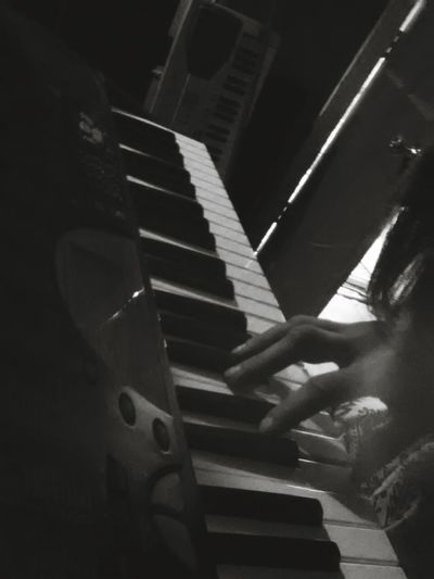 That's Me Relaxing Making Music Where The Wild Things Are Follow Me Black & White Beatiful Girl TakeoverMusic Extracurricular Activities Black And White Photography Piano Keys Piano Keyboard