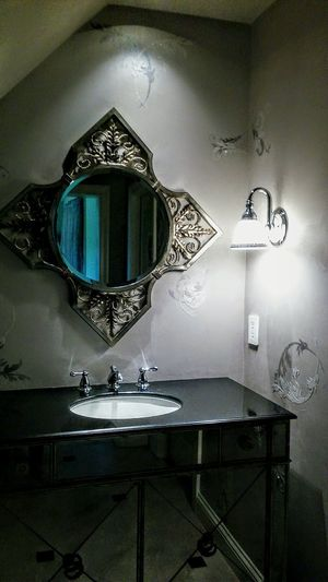 No People Architecture EyeEm Gallery Irwin Collection Home Showcase Interior Domestic Room Beautiful Home Bathroom Picture Mirrored Image Sink And Counter BYOPaper!